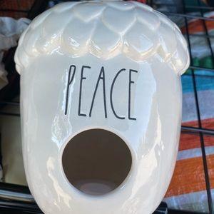 Rae Dunn PEACE acorn birdhouse